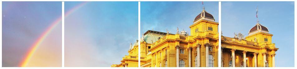 Zagreb - theatre- rainbow